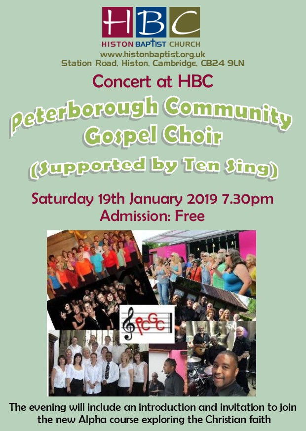 Peterborough Gospel choir